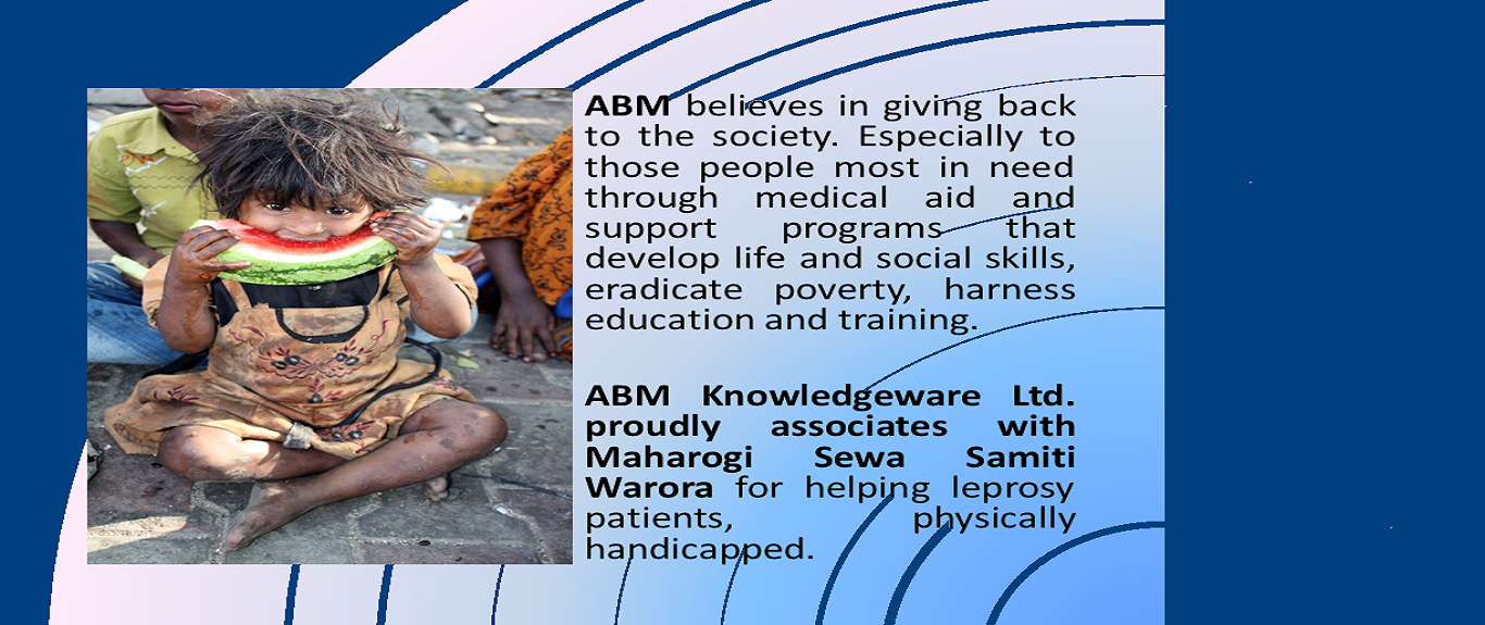 ABM Knowledgeware - Helping leprosy patients.